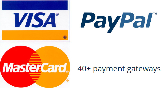 No additional charge for accepting credit card payments (over 50 online payment gateways are supported)