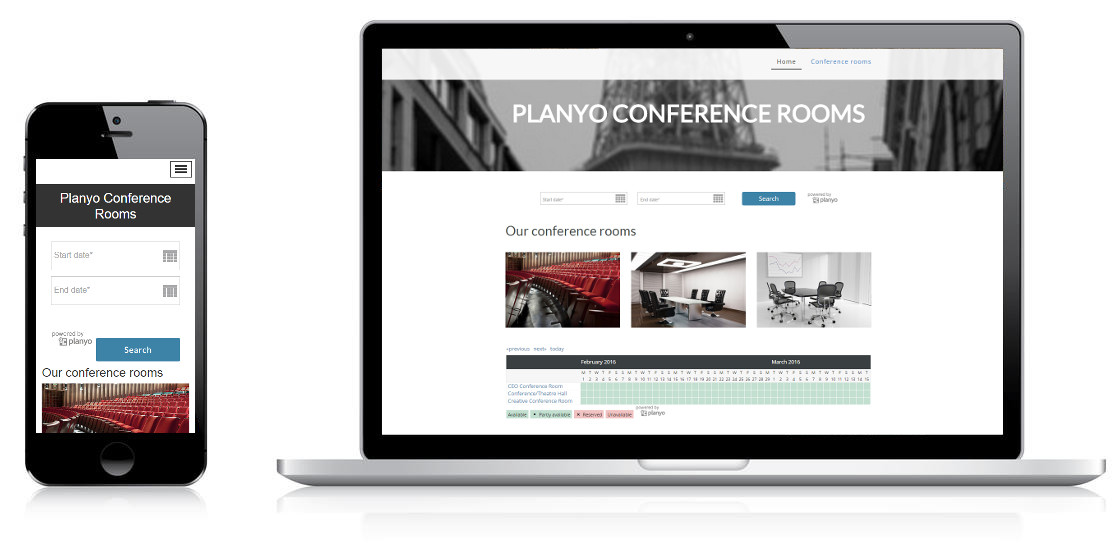 Online booking system for Conference Rooms and Halls