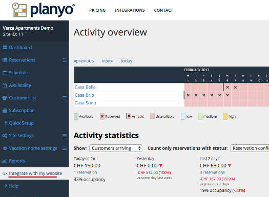 Planyo online reservation system module - Integration with