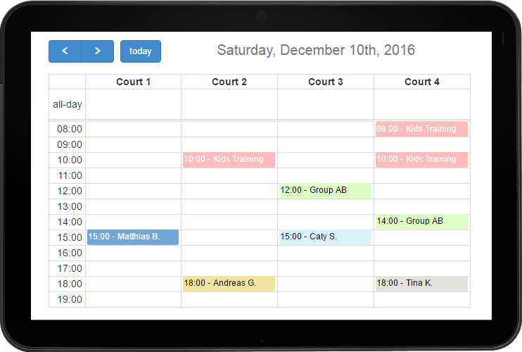 Planyo Net Free Calendar Widget For Your Website With Events From