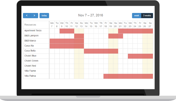 Planyo net - Free calendar widget for your website with events from