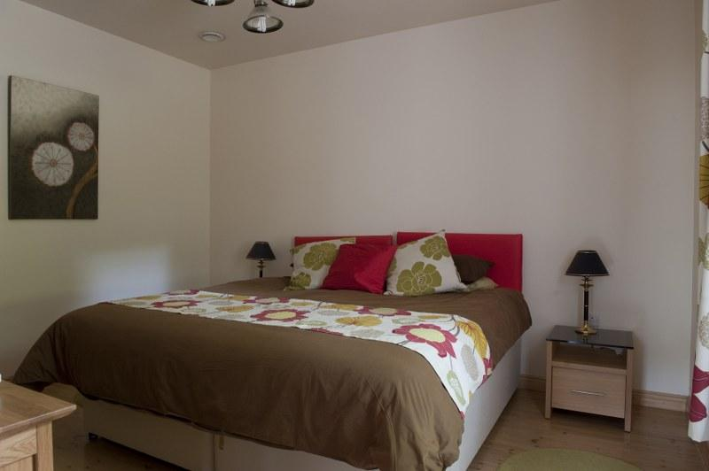 The large downstairs bedroom is perfect for those with reduced mobility.