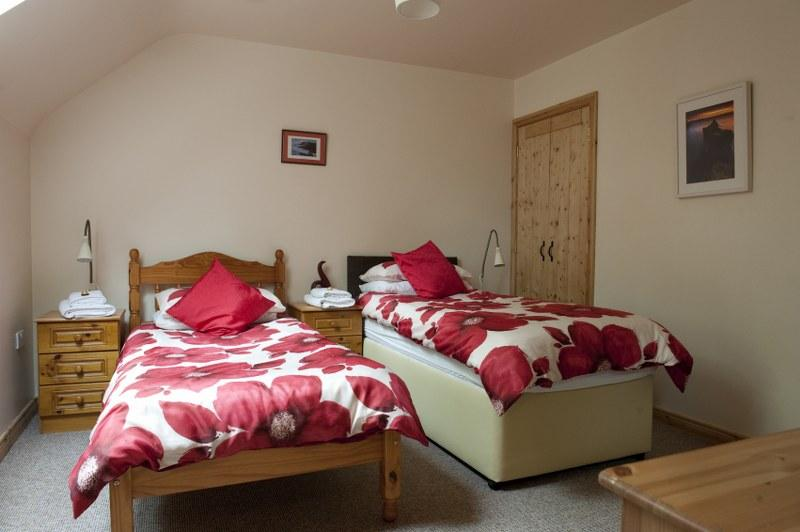 There are 3 bedrooms upstairs, all of which can be set as twin rooms or doubles with super-king size beds.