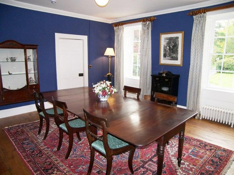 For more formal occasions, a candlelit dinner in the blue dining room is quite an experience.