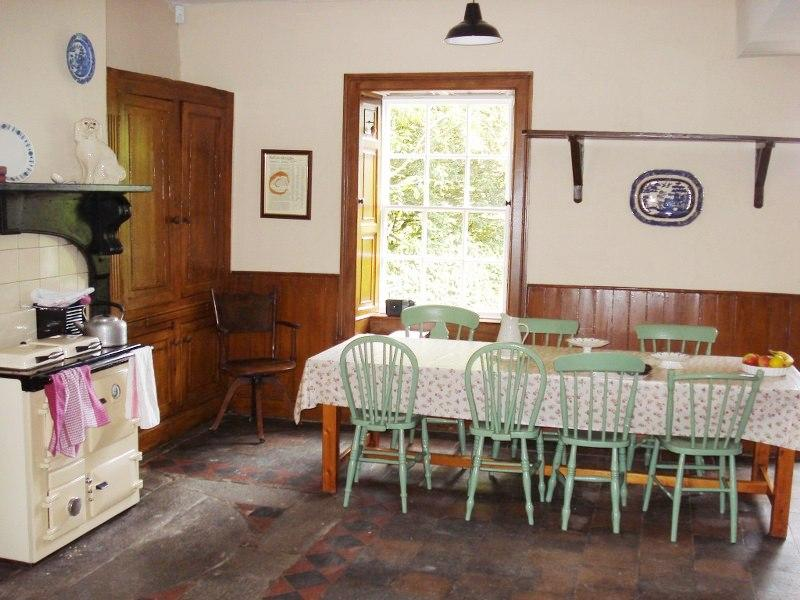 The gorgeous large kitchen in Tullymurry House has room for the whole family to get together every morning.