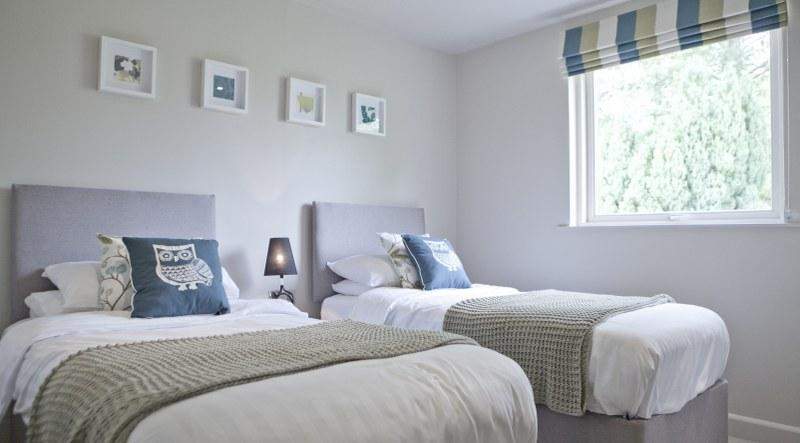 Two of the three bedrooms in the Waterside Lodges can be set up as doubles or twins