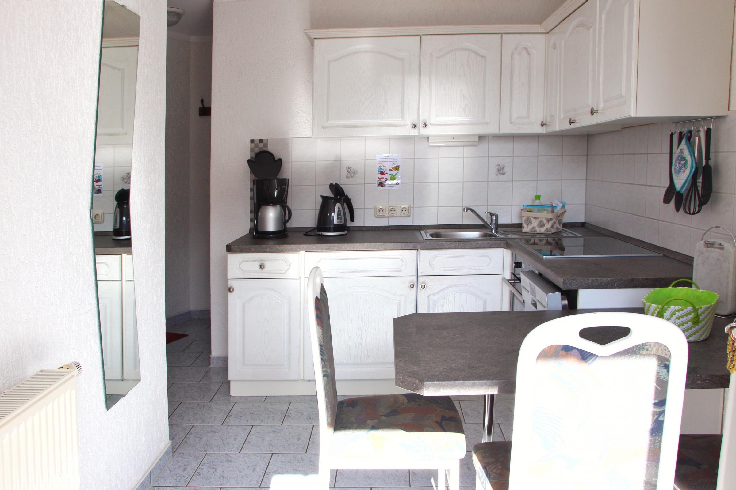 Neue Küche mit funktionalem Sitzbereich