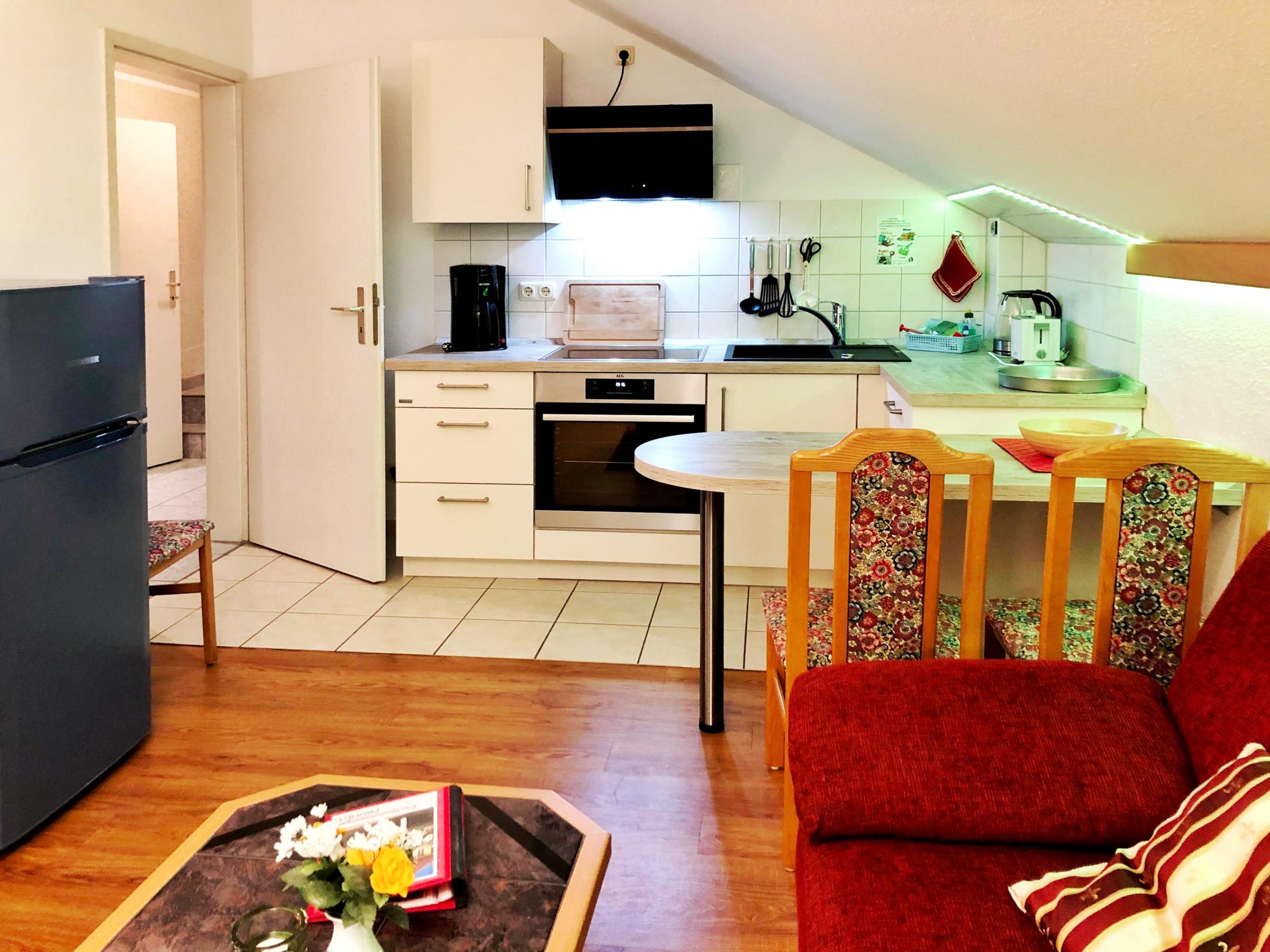 moderne Küchenzeile im Wohnbereich