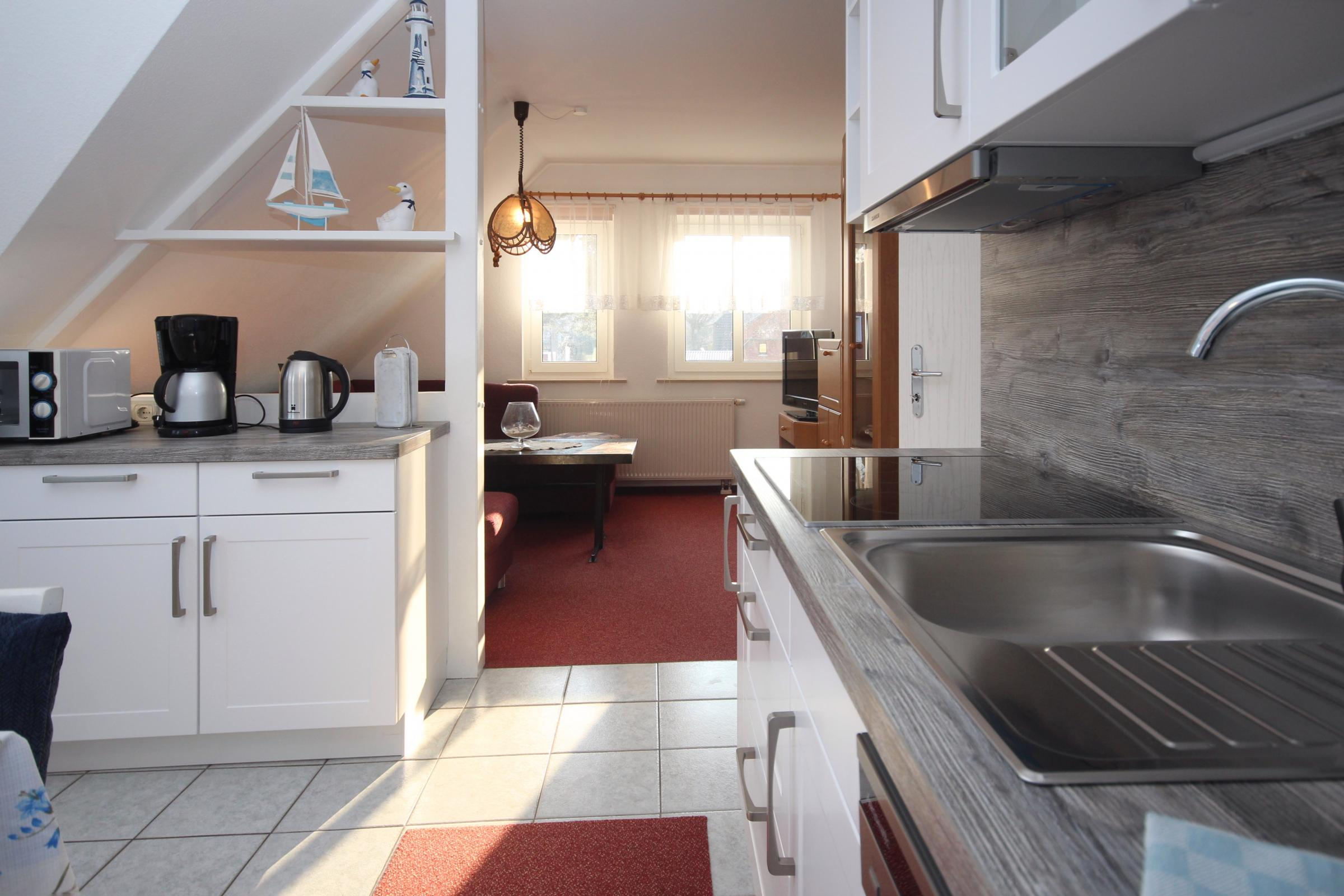 Küchenzeile kombiniert mit Wohnbereich