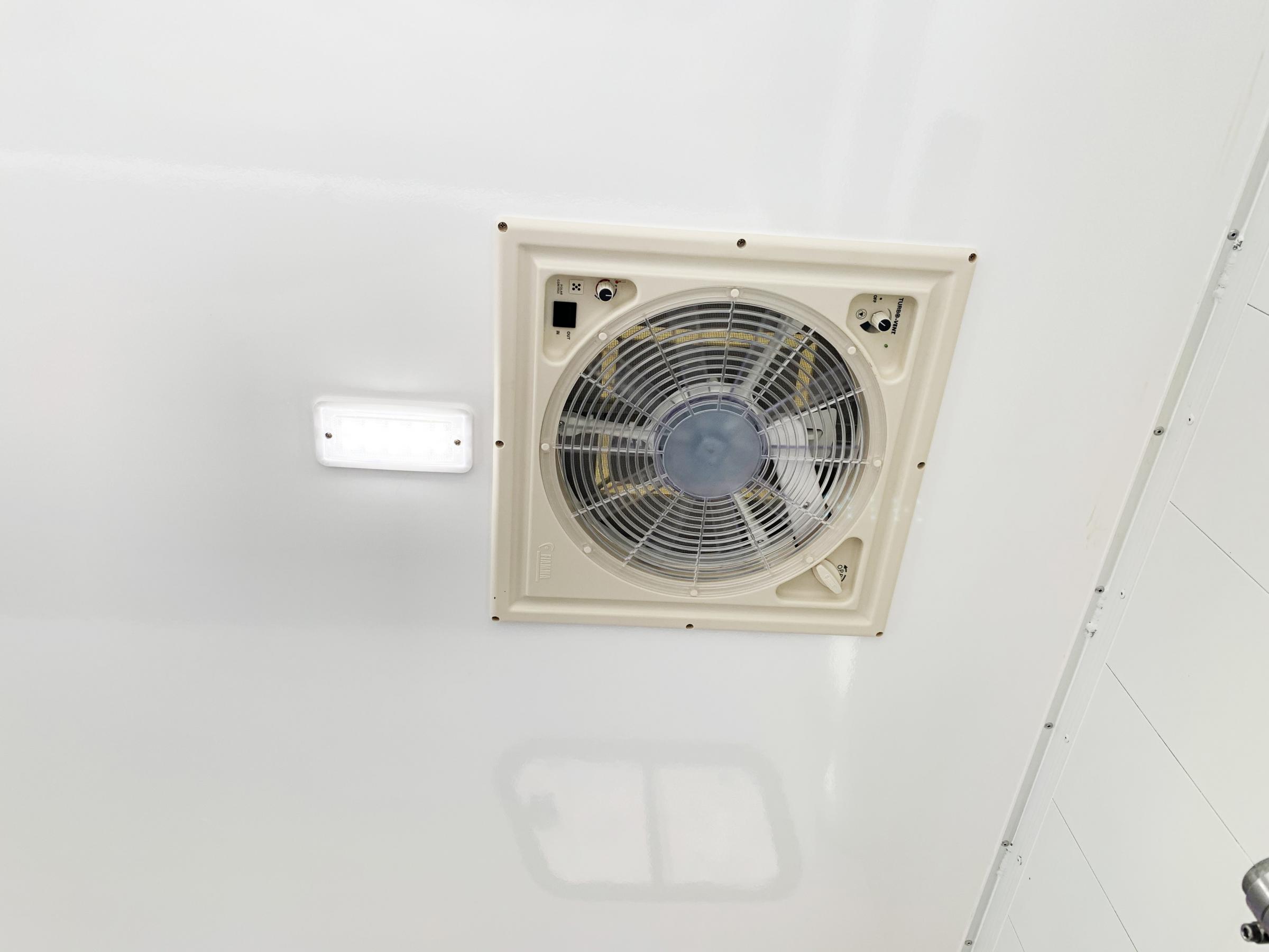 Stor ventilation för extra komfort.
