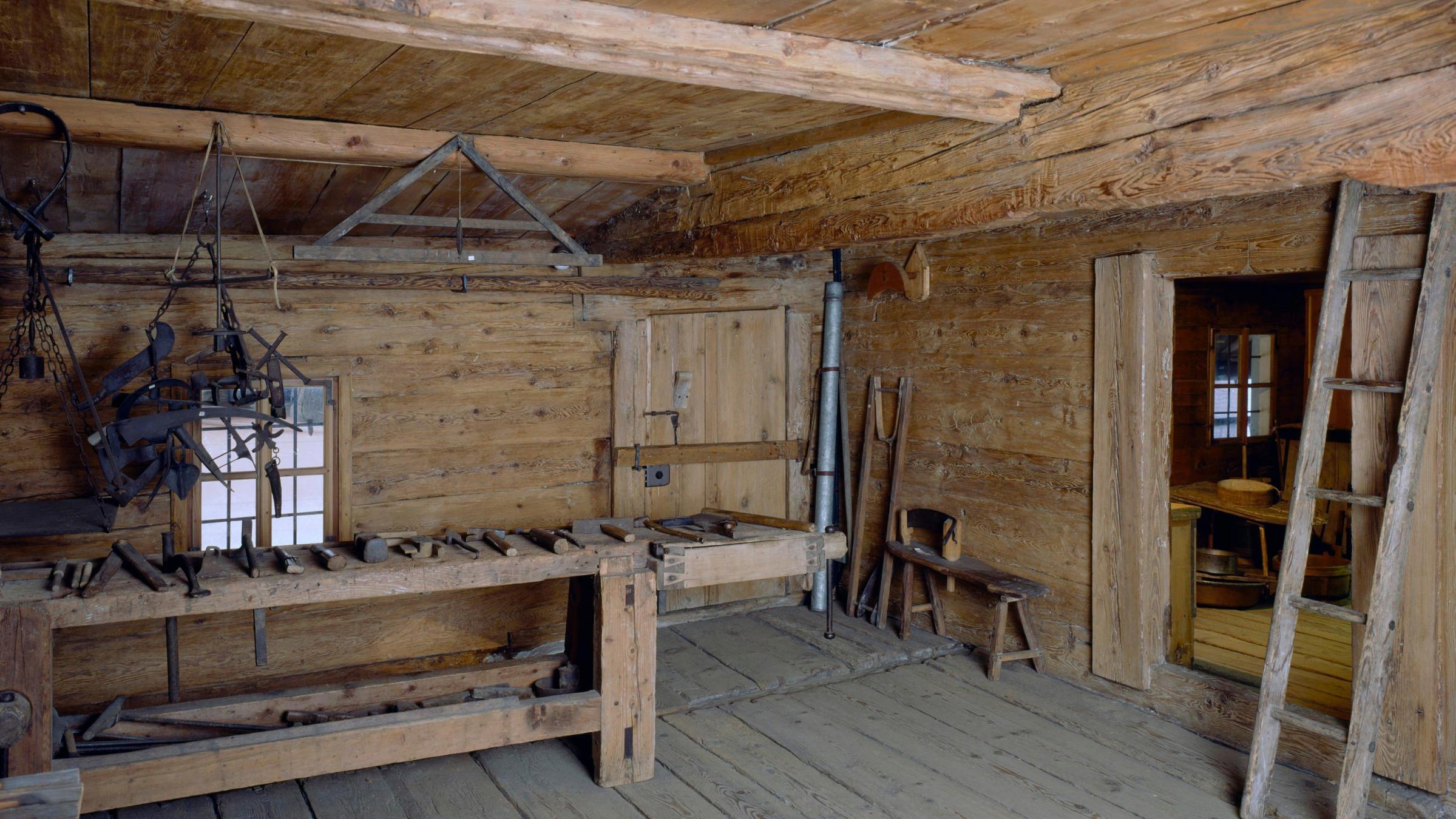 Ingresso alla Casa walser: la vita come 500 anni fa