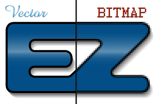 difference between bitmap and vector image