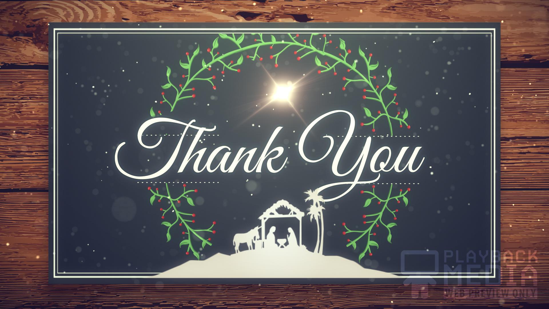 Christmas Manger Closing Still Background