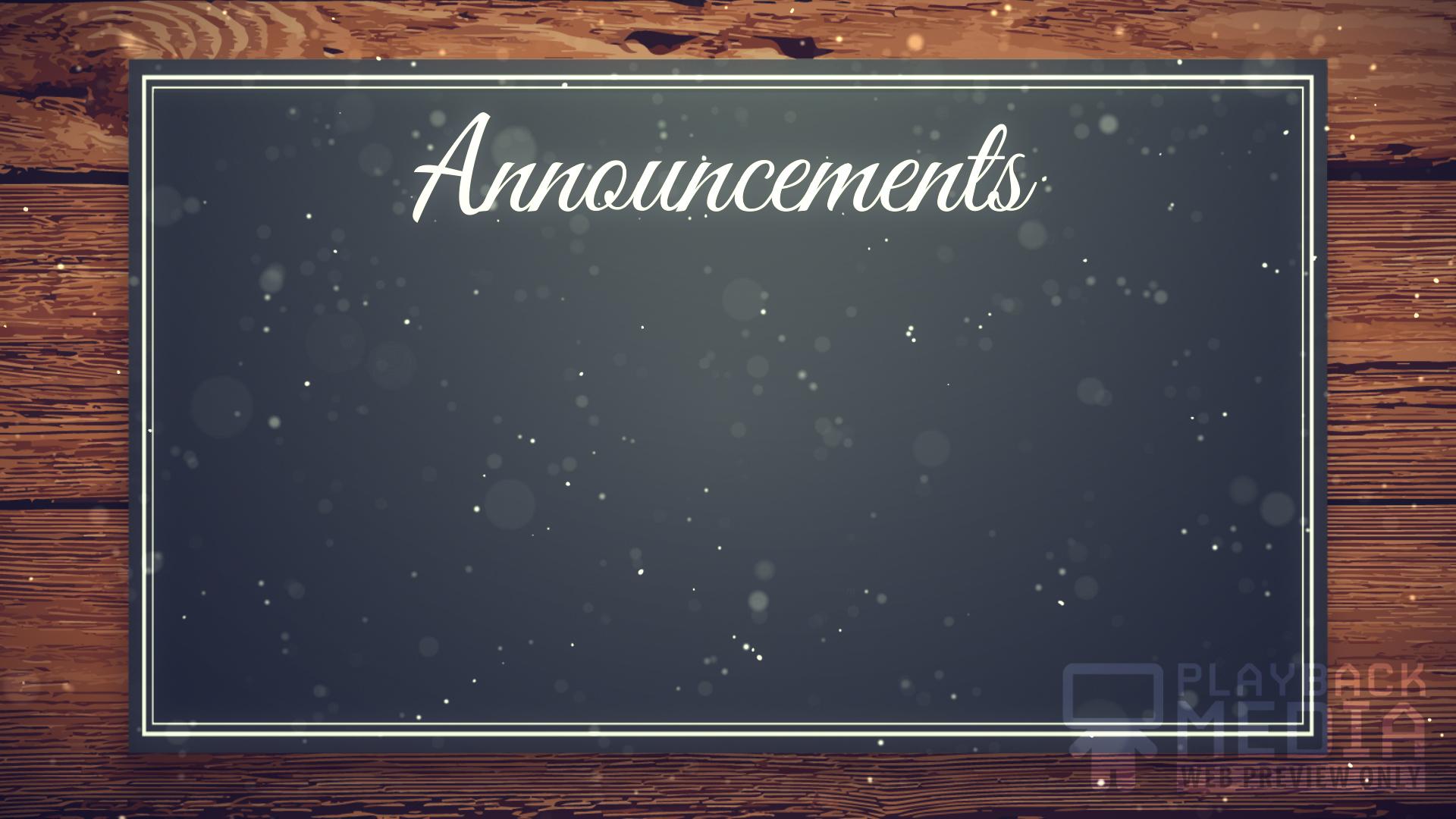 Christmas Manger Announcements Still