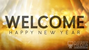 Golden New Year Motion Background