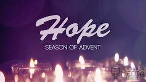 Advent Candles Hope Motion Background