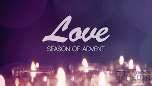 Advent Candles Love Motion Background