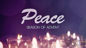 Advent Candles Peace Motion Background