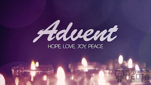 Advent Candles Season Motion Background