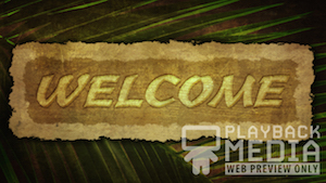 Ancient Palm Welcome 1 Still Background