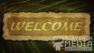 Ancient Palm Welcome 1 Motion Background