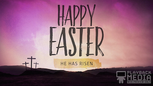 At The Cross Easter Motion Background