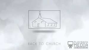 Back to Church White Motion Background