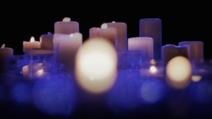Blue Blur Candles Motion Background