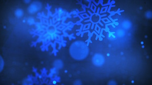 Blue Falling Flakes Motion Background
