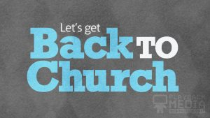 bold impression back to church motion background