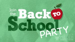 bold impression back to school motion background