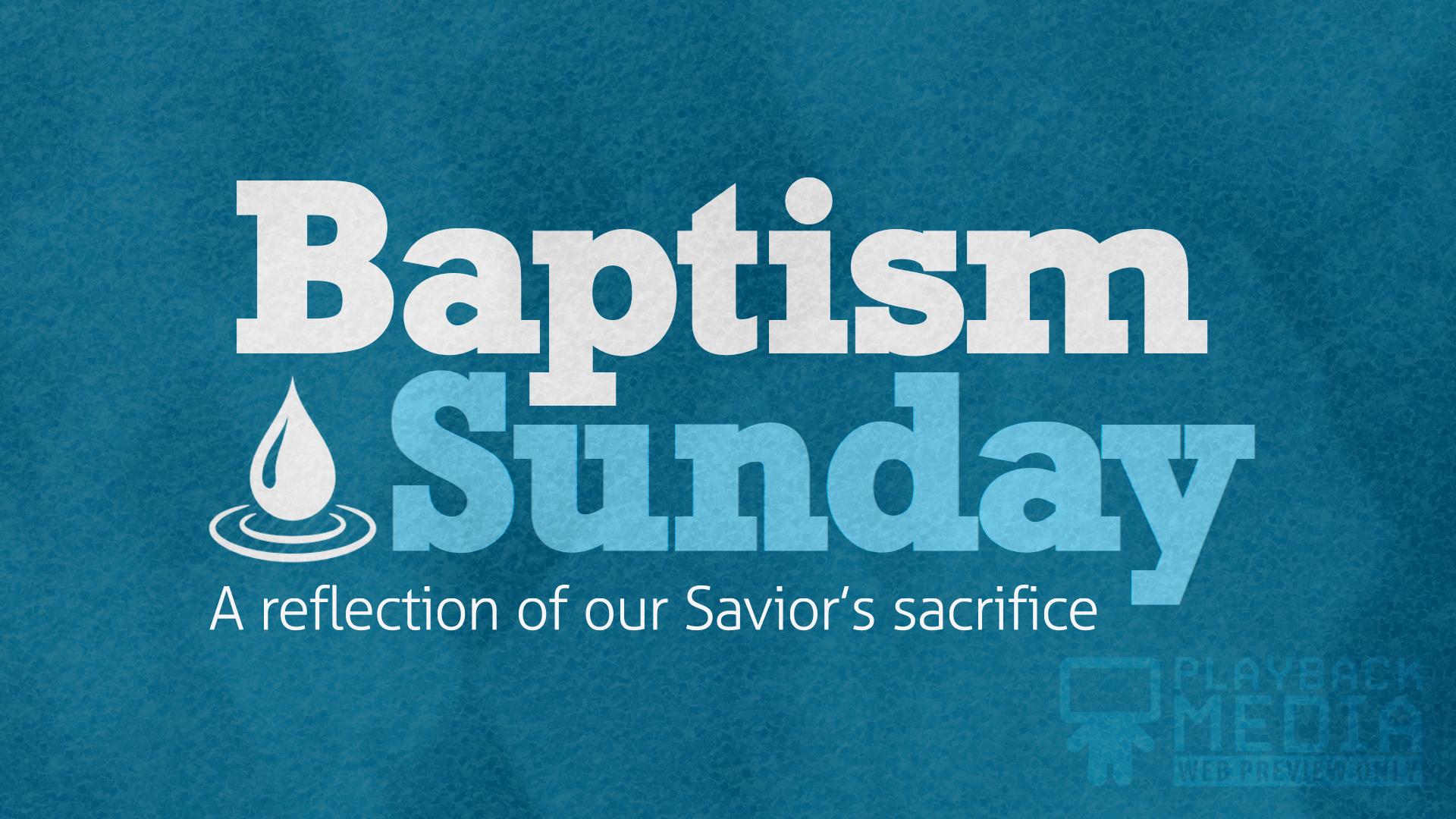 bold impression baptism motion background