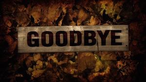 Burlap Leaves Goodbye Motion Background