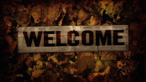 Burlap Leaves Welcome Motion Background