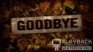Burlap Leaves Goodbye Still Background