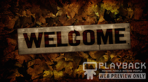Burlap Leaves Welcome Still Background