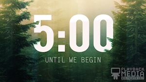 Calming Nature Green Countdown