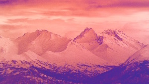 Christmas Mountains Motion Background