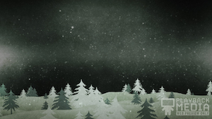 Christmas Forest Green 2 Motion Background