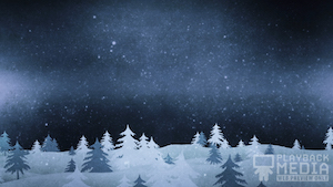 Christmas Forest Blue 2 Still Background