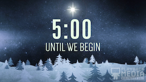 Christmas Forest Blue Church Countdown