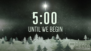 Christmas Forest Church Countdown