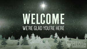 Christmas Forest Green Welcome Motion Background