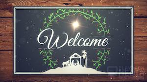 Christmas Manger Welcome Still Background
