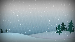 Christmas Snow Hills Day Motion Background