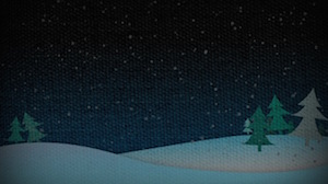 Christmas Snow Hills Night Motion Background