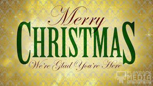 Classic Holiday Christmas Gold Motion Background