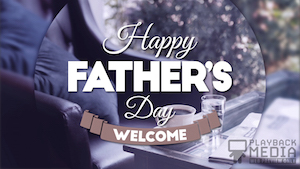 Coffee Break Father's Day Motion Background