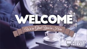 Coffee Break Welcome Motion Background