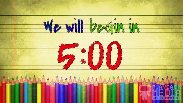 color pencils church countdown